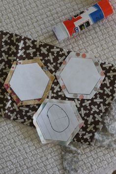 How to make paper pieced hexagons