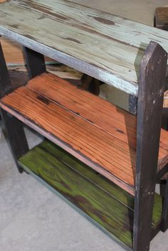 Lots of useful projects using scrap 2x4's. Love the bright sanded colors.