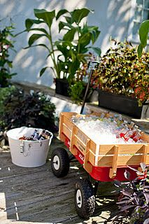 drinks in a wagon