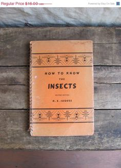 "vintage 1947 field guide book // ""How to Know the Insects"""