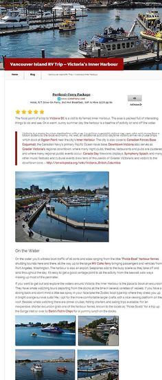 From love your rv vancouver island rv trip victoria s inner harbour