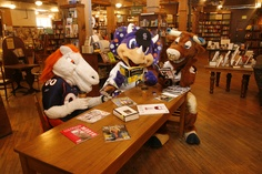 Hanging out at the bookstore with some local friends