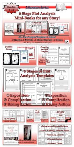 Plot Mini-Books Analysis Activity--Perfect Resource and Analytical Activity to Help Students Close Read and Analyze the Plot of Any Given Story! Students will creating their own unique and original books! Common Core!