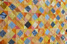 wonky squares quilt detail / wombat quilts