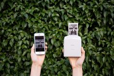 Print any photo from your phone, wirelessly and instantly with the Instax Printer!  Print pics from Facebook, Instagram or your camera roll and tenderly hold the fresh prints in your hands in less than a minute.  The Instax Printer is controlled by a free app, battery powered and prints pocket sized photos on 100% legit film.  Unlike traditional instant cameras, you can edit, filter and crop your photos to perfection before you print.