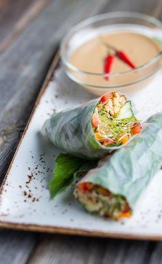 Vegan Summer Rolls with Peanut Sauce