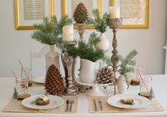 Natural Christmas Tablescape inspired by the outdoors!