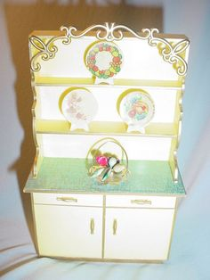 1960s Ideal Petite Princess Fantasy Kitchen Hutch