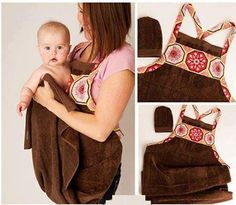 Baby Bath Apron Towel