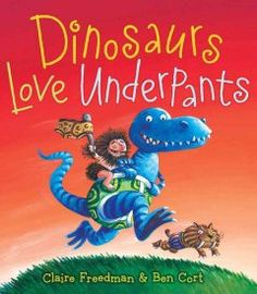 September 30, 2014. Illustrations and rhyming text reveal the Mighty Underpants War as the true reason dinosaurs are extinct.