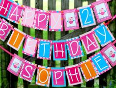 Owl  Birthday banner Personalized custom by ModernWhimsyParties, $35.00