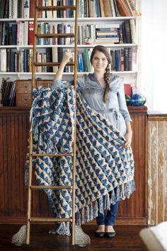 Triangles crochet throw