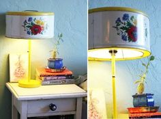 9 Stylish Uses for Vintage Tins - Light it up. This fun DIY lamp shade made from a vintage tin cake carrier isn't as tricky as you may think. See the full tutorial on Lilliedale blog.