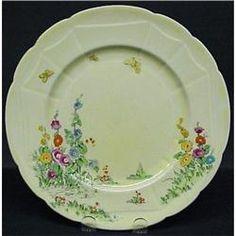 Crown Staffordshire - Hollyhock Plate