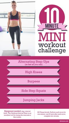 Take this 10 Minute Mini Workout Challenge!  #mini #workout #challenge