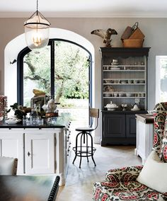 alcove french door in kitchen
