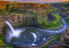 The Palouse valley...