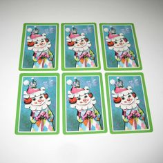 Vintage Playing Cards with Clown and Mouse on by grandmothersattic, $2.50
