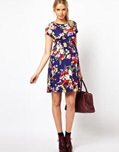 Image 4 ofASOS Maternity Skater Dress In Floral Print