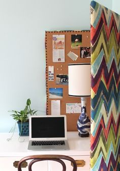 Room Divider - Upholstered corkboard room divider!!!