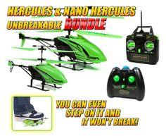 Glow In the Dark Hercules and Nano Unbreakable 3.5CH RC Helicopter Bundle #hercules #glowinthedark #rchelicopter #helicopter #remotecontrol #radiocontrol #hobbytron #worldtechtoys #gyro #3channel