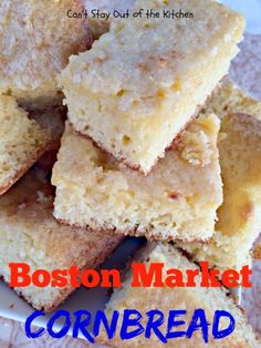 Boston Market Cornbread - one of the BEST #cornbreadbread recipes you'll ever eat. Quick and easy.#breakfast via Can't Stay Out of the Kitchen