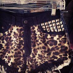 leopard print + studs