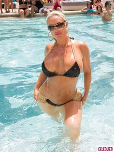 Coco Bikinis with Ice-T at Las Vegas Pool Party....I don't know why but LOVE THEM!