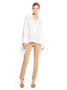 Sunbaked Long Sleeve Caftan Shirt - Donna Karan