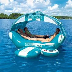 Overtons : SportsStuff Cabana Islander - Watersports  Lake  Pool Leisure  Party Island Floats : Lake Toys, Lake Rafts, Water Toys, Floating Decks, Rafts