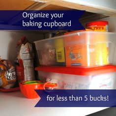 Cupboard organization