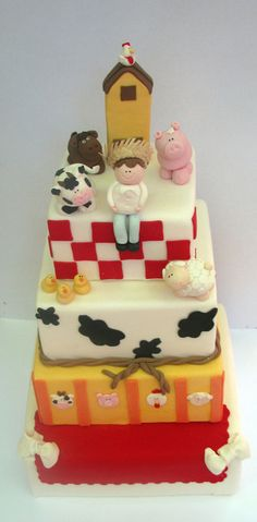 Old MacDonald Farm Party Cake #oldmacdonald #cake
