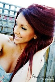 Red/purple hair...love this color, but i could never pull this off