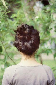 perfect bun, topknot, messy buns, hairstyl, hair style, beauti, top knot, messi bun, simpl bun