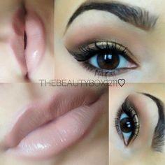 Smokey eye + a nude lip