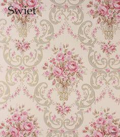 Romantisch behang bloemen