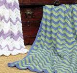 When looking for a classic crochet afghan pattern, look no farther than the Crochet Ripple Afghan.