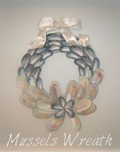 wreath made of mussel and oyster shells