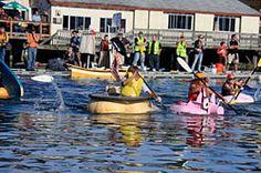 Damariscotta, Maine 2013 Pumpkinfest - 2013 Events giant pumpkin, kayak