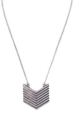 Deb Shops Short necklace with Chevron Pendant $6.75