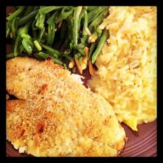 Almond and Parmesan Crusted Tilapia: 1 tsp olive oil, 3 cloves garlic ...