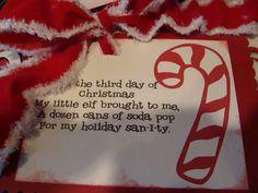 Secret Santa ideas or 12 days of Christmas teacher gifts