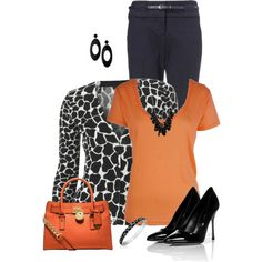 Be careful of orange after 60, but with the right hair color and makeup this outfit is killer