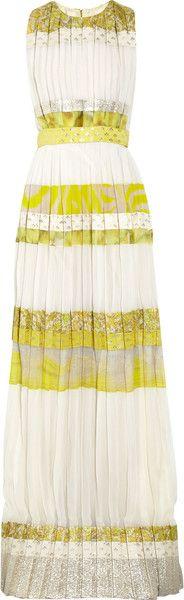GIAMBATTISTA VALLI   Patterned Striped Silkblend Gown