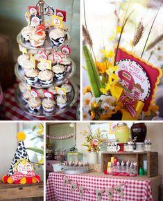 Cowboy + Cowgirl Themed Joint Birthday Party with Such Cute Ideas via Kara's Party Ideas Kara Allen KarasPartyIdeas.com #westernparty #barny...