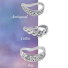 Antiqued Sterling Silver Thumb Rings, whole sizes 8-10, 34.98 each