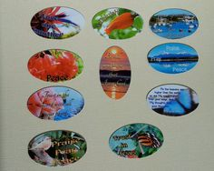 Christian magnets uplifting verses and words by PraiseAndPromises, $1.50