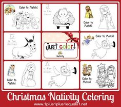 Just Color ~ Christmas Nativity from @{1plus1plus1} Carisa