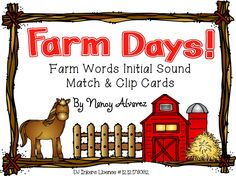 "FREE LANGUAGE ARTS LESSON - ""Farm Words Initial Sound Match and Clip Cards"" - Go to The Best of Teacher Entrepreneurs for this and hundreds of free lessons. http://thebestofteacherentrepreneurs.blogspot.com/2013/03/free-language-arts-lesson-farm-words.html"