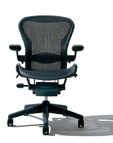 Herman Miller #AeronChair. I have been using this chair for 12 years and the back Pellicle and 3 caster wheels need replacement. The local Importer replaced every parts that need to be change free of charge after confirmation from Herman Miller of manufacturing date on the chair....